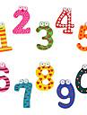 desen animat numerele de stil mini-frigider magnet de lemn (10-Pack)