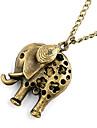 Antique Copper Hollow-out colier Elephant