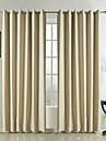 Două Panouri Tratamentul fereastră Modern , Mată Dormitor Poliester Material perdele, draperii Pagina de decorare For Fereastră