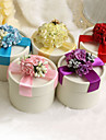 Classic Favor Boxes With Flower And Bow - Set of 12 (More Colors)