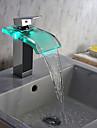 Moderne Set de centre Jet pluie LED Soupape céramique 1 trou Mitigeur un trou Chrome, Robinet lavabo