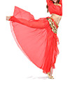 Belly Dance Skirt Women's Training Performance Chiffon Split Front Dropped Skirt