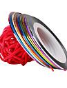 12 3D Nail Stickers Folie Stripping Tape Mode Høj kvalitet Daglig