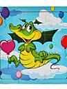 drăguț personaje din lemn puzzle jucărie de învățământ (9 piese, stil aleatorie)