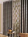 Två paneler Fönster Behandling Moderna Sovrum Polyester Material Mörkläggning Gardiner draperier Hem-dekoration