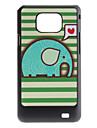 flash design drăguț elefant model greu caz pentru Samsung Galaxy S2 i9100