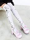 Ciorapi strâmți, lungi Șosete / ciorapi Lolita Stil Gotic lolita lolita Pentru femei Alb Negru Lolita Accesorii Floral Floare Șosete