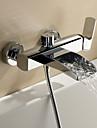 Sprinkle® av LightInTheBox-Nutida-Vattenfall / Centerset / Väggfäste-Mässing-Sprinkle®-badkarskranar(Krom)