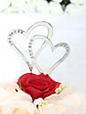 Vârfuri de Tort Nepersonalizat Inimi Aniversare / Petrecerea Bridal Shower / Nuntă Ștras Argintiu Temă Clasică Sac PVC