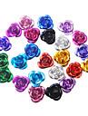 36pcs flera färger 3D Metal Mini Cute blommor Nail Dekorationer