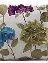 Broderade blommor Polyester Dekorativ örngott