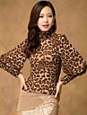 leopard bluza pentru femei gât
