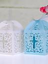 Cubic Hârtie perlă Favor Holder cu Panglici Cutii de Savoare