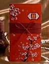 """Pliat Invitatii de nunta Invitații Stil Artistic Stil Floral Hârtie cărți de masă 8 ½""""×4"""" (20.8*10.3cm) Panglici"""
