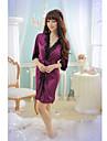 Sexy V Neck Pijamale Purple