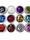 12 pcs Nail Smycken / Glitter & Poudre / Dekorationssatser Punk / Mode Dagligen Nail Art Design / Akrylfiber