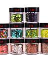 Blänker diamantformade Nail Stickers NO.13-22 (Blandade färger)