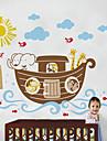 Båt med tio djur Wall Sticker
