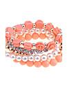 set lureme®alloy perla brățară șirag de mărgele zircon (culori asortate)