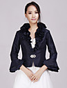 Taffeta Wedding Party Evening Casual Office & Career Wedding  Wraps With Beading Ruffles Coats / Jackets