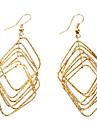 Diamond Cercei de aur de metal
