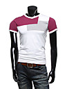 INMUR ecran color V Neck culoare Splice T Shirt