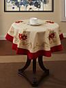Polyester Rond Nappes de table Fleur Décorations de table