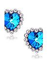Dame Cercei Stud Sapphire sintetic Iubire bijuterii de lux Pietre sintetice Diamante Artificiale Aliaj Heart Shape Star Shape Bijuterii