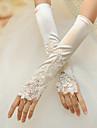 Satin degete Cot Lungime nunta / Party Glove