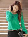 Femei Plus Size Bluza de culoare solidă