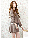 Imbracaminte pentru femei O-Neck maneca lunga zilnic de tricotat libere Mini rochie dulce