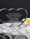 Vârfuri de Tort Personalizat Inimi Cristal Nuntă / Aniversare Temă Clasică Cutie de Cadouri