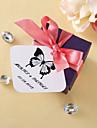 Tag-uri personalizate pătrați - Butterfly Classic (set de 36)
