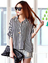 Femei Stripes Cape Sleeve Shirt