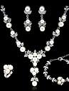 Pentru femei Ștras / Imitație de Perle Set bijuterii - Altele Argintiu
