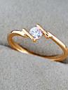BIN BIN Kvinnors 18K Guld Zircon Ring (J1290)