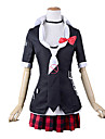 Inspired by Dangan Ronpa Junko Enoshima Video Game Cosplay Costumes Cosplay Suits School Uniforms Lolita Coat Blouse Skirt Tie