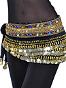 Belly Dance Belt Women\'s Training Polyester Beading Coin Crystals / Rhinestones