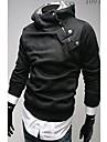 Zhelin Oblique fermoar Collar ingrosat Fleece Hoodie Coat