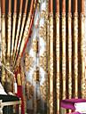 Deux Panneaux Le traitement de fenetre Europeen Neoclassique Chambre a coucher Melange Lin/Coton Materiel Rideaux TenturesDecoration