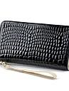 Kvinnor Vintage PU Leather Zipper Around Long Purse