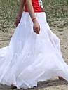 Gypsy Bohemia mare elegantă, Hem bumbac Spania plisate dans alb lungi Maxi fuste pentru femei