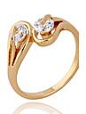 Xinxin femei 18K aur zircon Ring J1133