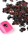 yemannvyou®20pcs söt legering ninjakatt nail art dekorationer no.37-38 (blandade färger)