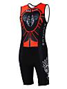 Kooplus Tenue de Triathlon Homme Femme Unisexe Sans Manches Velo combinaisons Ensemble de Vetements Sechage rapide Permeabilite a
