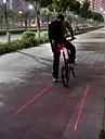 Cykellyktor Baklykta till cykel Laser LED Cykelsport Vattentät Laser LED ljus Strike Bezel Varning Lumen Batteri