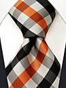 Bărbați Casual Silk Multi-Color Check Pattern cravate