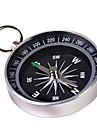 Bärbar Metall Kompass med nyckelring (Large) - Silver