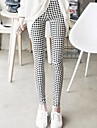 Pentru femei de moda imprimate elastic Skinny Soft Creion Pantaloni Costum
