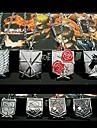 Bijuterii Inspirat de Atac pe Titan Eren Jager Anime Accesorii Cosplay Colier Auriu / Argintiu Aliaj Bărbătesc